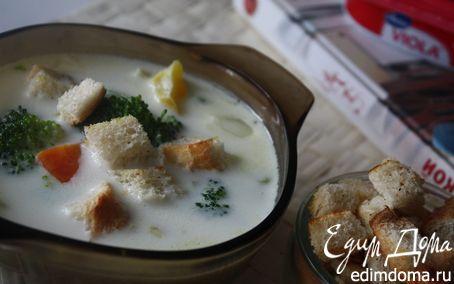Рецепт Сливочный суп с брокколи
