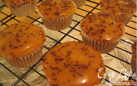 Рецепт Кексы с крем-нугой и шоколадом