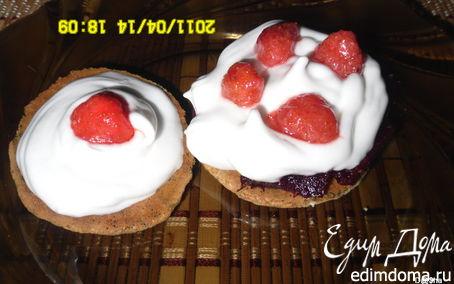Рецепт Кокосовые печеньки с воздушным кремом