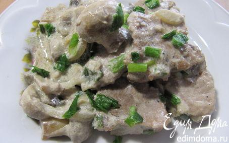 Рецепт Свиные медальоны в сливочно-грибном соусе
