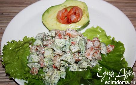 """Рецепт Салат с креветками и авокадо """"∞"""""""