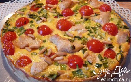 """Рецепт """"Киш & Со."""" :-) Киш с мясом птицы, томатами и кедровыми орешками"""