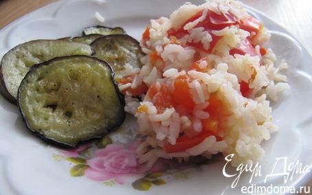 Рецепт Баклажаны с красным паровым рисом в пароварке