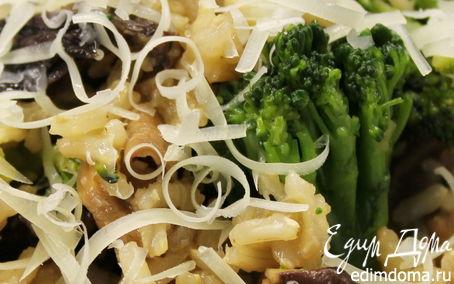 Рецепт Коричневый рис с грибами и брокколи