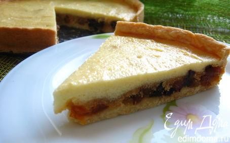 Рецепт Пасхальный пирог с сухофруктами и печеньем