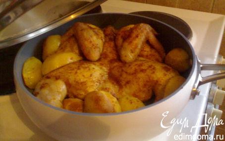 Рецепт Курочка жареная с картошкой