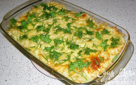 Рецепт Слоёная запеканка с макаронами и творогом