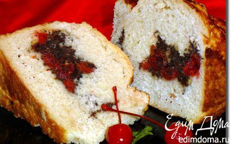 Рецепт Оригинальный пирог с маком, вялеными вишнями, цукатами