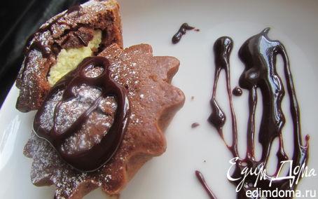 Рецепт Шоколадные кексы с творожной начинкой!