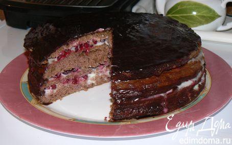 Рецепт Шоколадный торт с брусникой