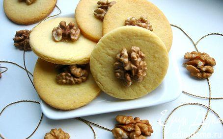 Рецепт Песочное печенье с грецким орехом