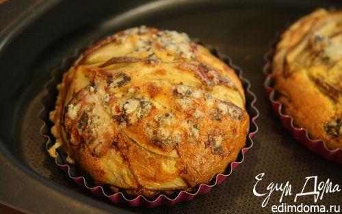 Рецепт Тарталетки из слоеного теста с грушей и голубым сыром
