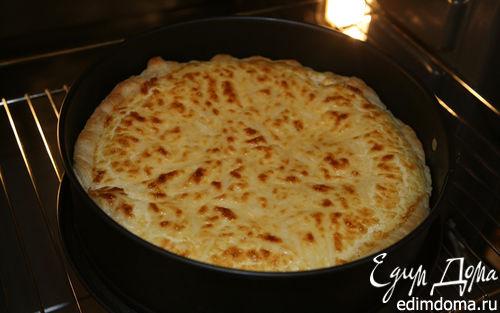 Рецепт Пирог из слоеного теста с сыром и творогом