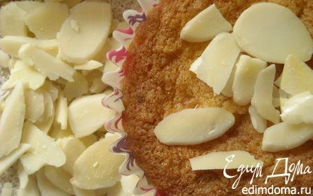 Рецепт Необычные кексы с кокосовой стружкой и миндальными лепестками