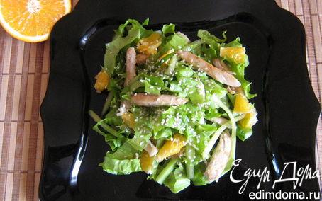 Рецепт Салат с куриной грудкой и апельсинами