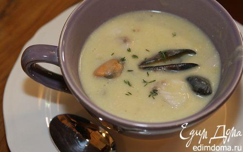 Рецепт Суп из трески с мидиями