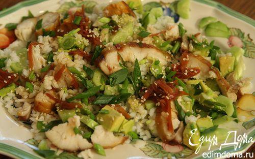 Рецепт Рисовый салат с копченым угрем