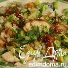 Рисовый салат с копченым угрем