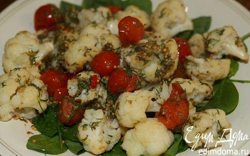 Рецепт Салат с цветной капустой, укропом и каперсами