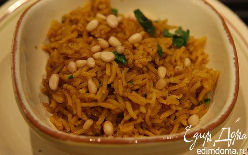 Рецепт Золотистый рис с кинзой и кедровыми орешками