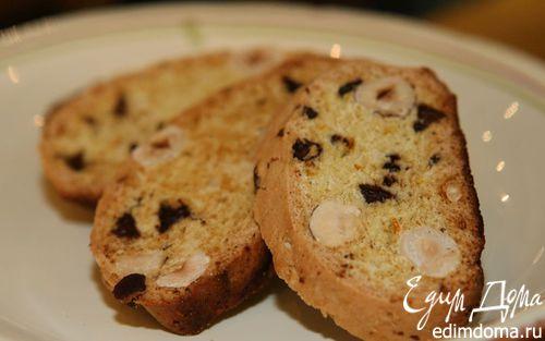 Рецепт Бискотти с фундуком и шоколадом