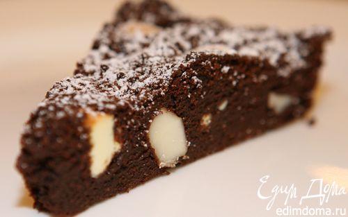 Рецепт Брауни с макадамией и белым шоколадом