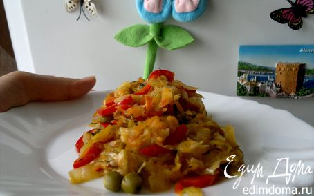 "Рецепт Капуста тушеная ""Весенняя"""