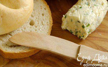 Рецепт Сырное масло с базиликом