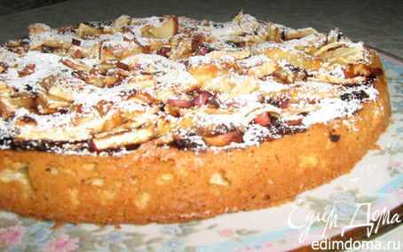 Рецепт Пирог с вяленными яблоками и джемом