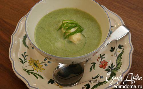Рецепт Суп-пюре из спаржи с клецками из феты