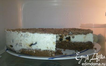 Рецепт Творожно-сметанный торт с черносливом