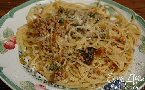 Рецепт Спагетти с телятиной и сельдереем