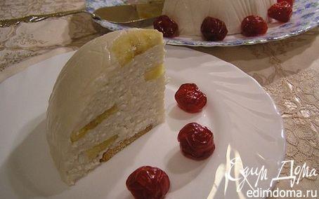 Рецепт Творожно-банановый торт-купол