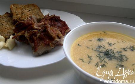 Рецепт Гороховый суп-пюре с копченностями