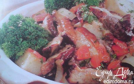Рецепт Жаркое с грибами и овощами
