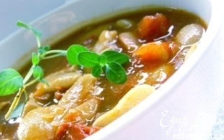 Рецепт Суп с перловкой и фасолью в пароварке