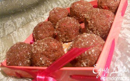 Рецепт Шоколадно-клубничные конфеты с розмарином
