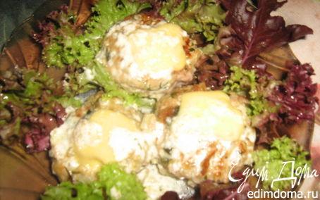 Рецепт Тефтели со шпинатом под йогуртно-сливочным соусом