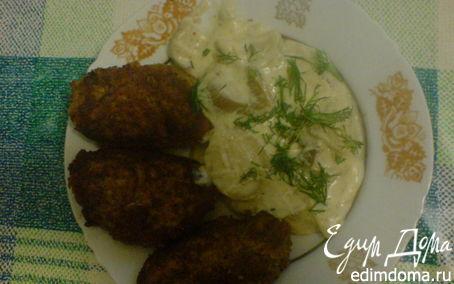 Рецепт ОРЕХОВЫЕ КОТЛЕТЫ под грибным соусом