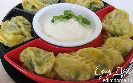 Рецепт Паровые вареники с зеленью и яйцом в пароварке