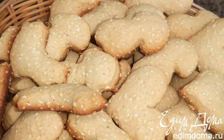 Рецепт Медово-кунжутное печенье