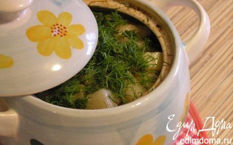 Рецепт Говядина с картошечкой и стручковой фасолью в горшочке