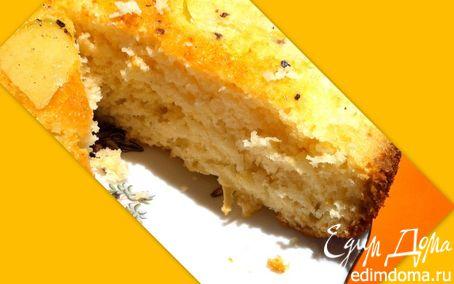 Рецепт Апельсиновый бисквит с яблоками