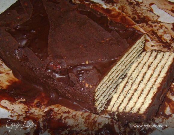 Шоколадный тортик из печенья