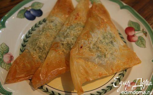 Рецепт Пирожки со шпинатом, курицей и кедровыми орешками