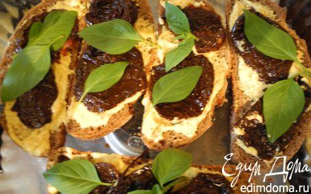 Рецепт Запеченные бутерброды с вялеными помидорами