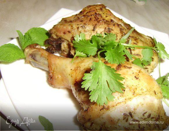 Курица с мятным соусом по-ливански