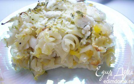 Рецепт Запеканка из кабачка, феты и макарон.