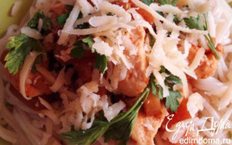 Рецепт Спагетти с курицей и ананасами