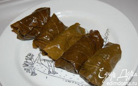 Рецепт – Долма из виноградных листьев.